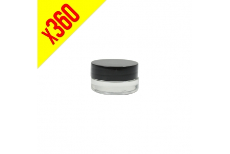 Glass Container with Black Cap 5ml - Bulk Box 360 units