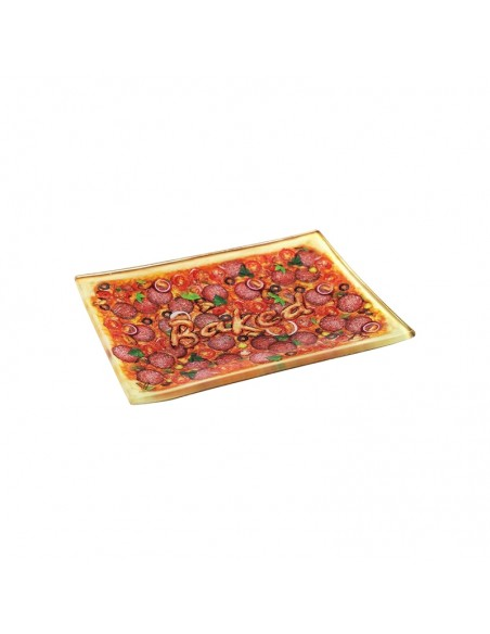 Glass Rolling Tray - Pizza - S 16x12cm
