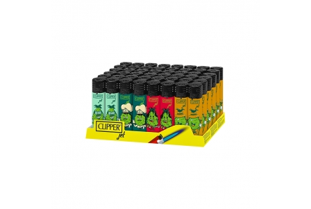 CLIPPER Jet Flame Weed Cogollos - Display of 48