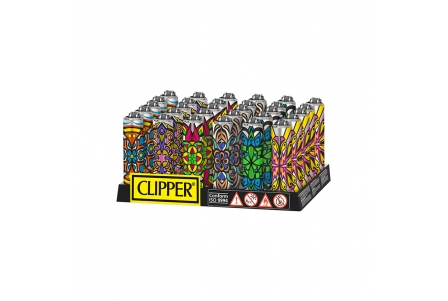 CLIPPER Micro Covers Mandala Colour - Display of 30