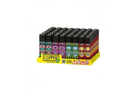CLIPPER Classic Colourful Skulls - Display of 48