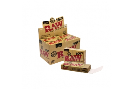 Raw Papers 1 1/4 - 500 Leaves - Display of 20