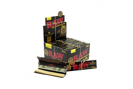 Raw Black Connoisseur KS Slim + Tips - Display of 24