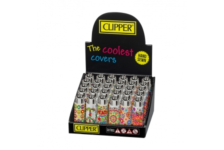 Funky Cover CLIPPER Flower Power - Display of 30