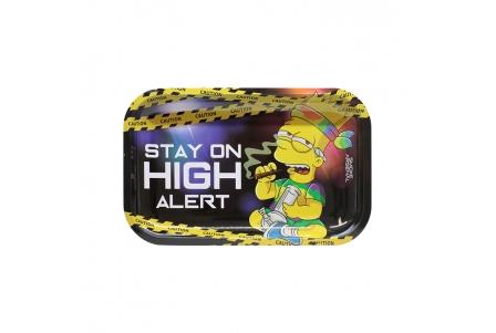 Metal Rolling Tray - High Alert - Medium 27,5x17,5cm
