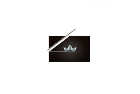 Royal Box con Pajita de Aluminio - Negro Mate