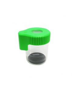 Dank Magnifying LED Glass Jar - Green