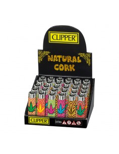 Funky Cover Clipper - Cork Trippy Leaves - Display of 30