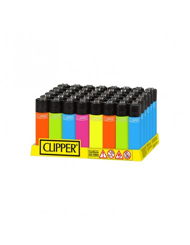 Clipper Classic - Solid Fluo - Black Top - Display of 48