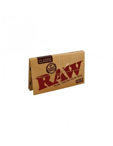 Raw Single Wide Double Window - 25 Booklets