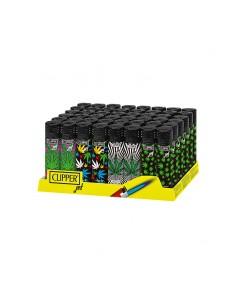 Clipper Jet Flame - Colourful Weed - Display of 48