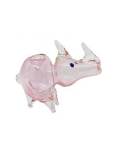 Light Pink Rhino Crystal Pipe 11cm