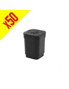 Patented Pop Top Square - Matte Black - 6 dram - 50 units