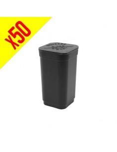 Patented Pop Top Square - Matte Black - 20 dram - 50 units